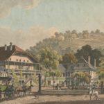 Bains de Bex, Canton de Vaud, tenus par Louis Dürr, vers 1885. Gravure par Théophile-Alexandre Steinlen (1859-1923)