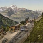 La gare de Gryon vers 1890. © Photoglob Zürich