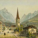 Bex, vers 1840. Dessiné par Jacques-Émile Lafon (1817-1886) et gravée par Armand Cuvillier