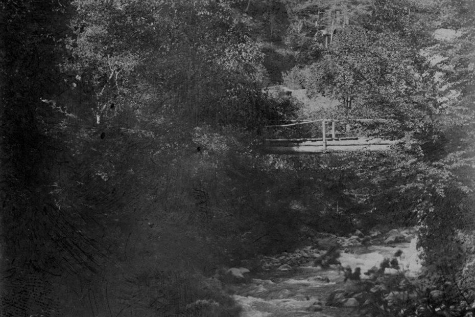 Le pont de la Barmaz sur le chemin de Sublin en 1898