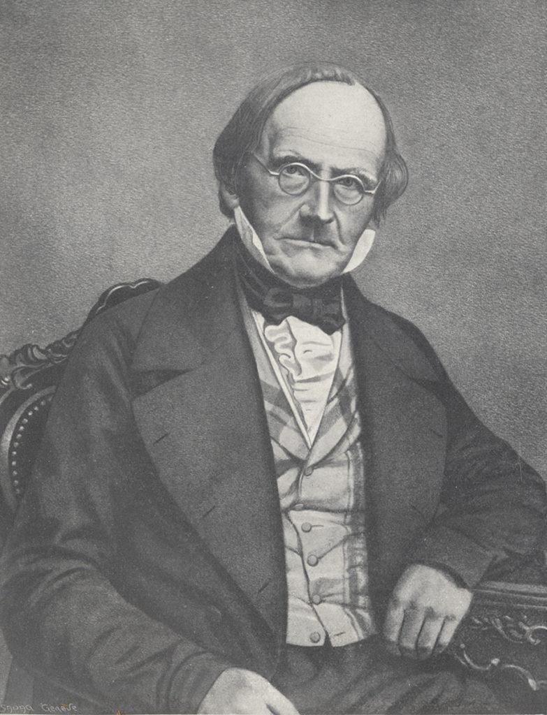 Jean de Charpentier. Tirage papier d'après un daguerréotype, vers 1850