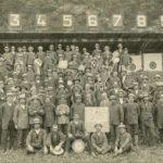 Photo de groupe du tir cantonal vaudois de Bex en 1922